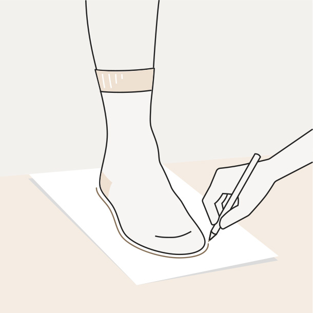 How to measure your foot - Step 1
